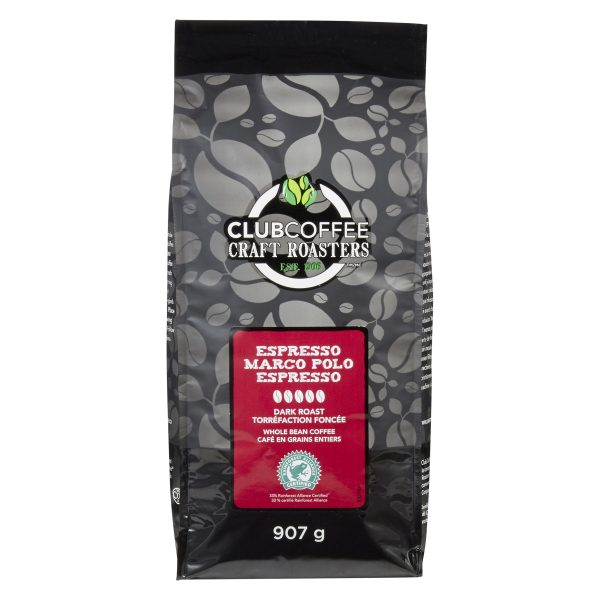 Club Coffee Craft Roasters - Marco Polo Espresso - Dark Roast Whole Bean Coffee