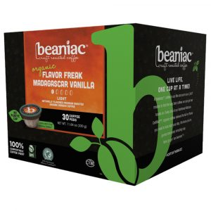 beaniac coffee - Flavor Freak Madagascar Vanilla Light Roast Coffee Pods